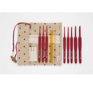Tulip Etimo Red Crochet Hook with Cushion Grip Set - WOOLS OF NATIONS