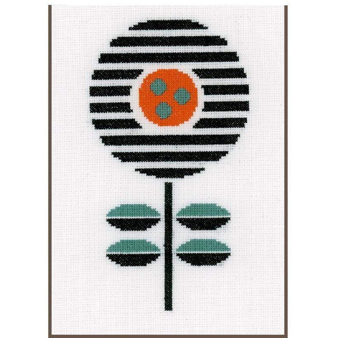 Vervaco Abstract Flower Cross Stitch Kit - WOOLS OF NATIONS