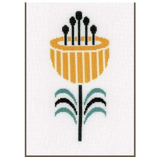 Vervaco - Abstract Flower Cross Stitch Kit - WOOLS OF NATIONS