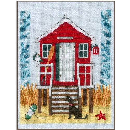 Vervaco - Beach Cabin Cross Stitch Kit - WOOLS OF NATIONS
