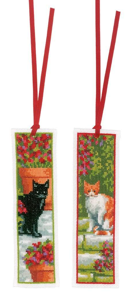 Vervaco - Bookmark Cats Cross Stitch Kit (Set of 2) - WOOLS OF NATIONS