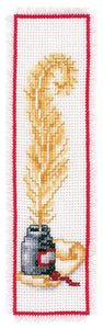Vervaco - Bookmark Goose Feather Cross Stitch Kit - WOOLS OF NATIONS