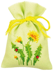 Vervaco - Dandelions Bags for Herbs Cross Stitch Kit (Set of 3) - WOOLS OF NATIONS