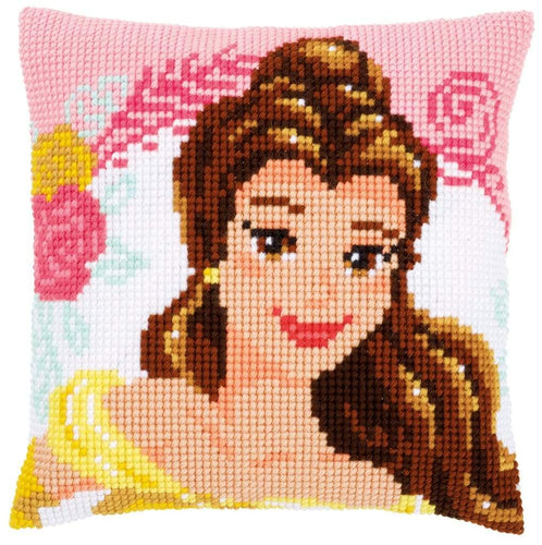 Vervaco Disney - Enchanted Beauty Cushion Cross Stitch Kit - WOOLS OF NATIONS