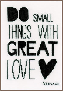 Vervaco Do Small Things Cross Stitch Kit - WOOLS OF NATIONS
