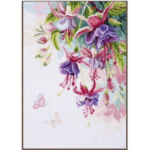 Vervaco - Fuchsias Cross Stitch Kit - WOOLS OF NATIONS