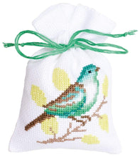 Laden Sie das Bild in den Galerie-Viewer, Vervaco - Green Birds & Butterfly Bags For Herbs Cross Stitch Kit (Set of 3) - WOOLS OF NATIONS
