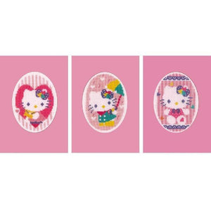 Vervaco - Greeting Cards Hello Kitty Cross Stitch Kit (Set of 3) - WOOLS OF NATIONS