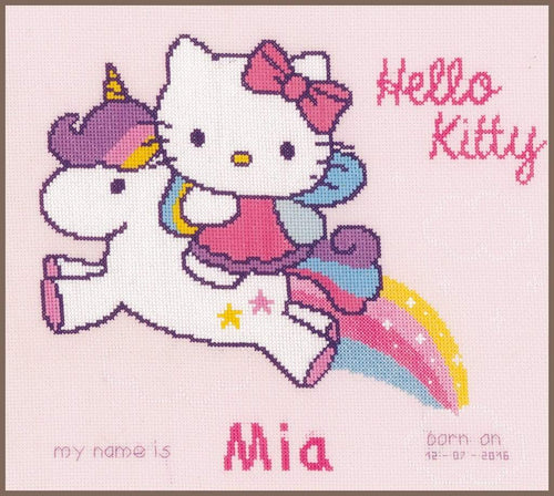 Vervaco Hello Kitty & Unicorn Cross Stitch Kit - WOOLS OF NATIONS