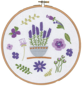 Vervaco Lavender Embroidery Kit - WOOLS OF NATIONS