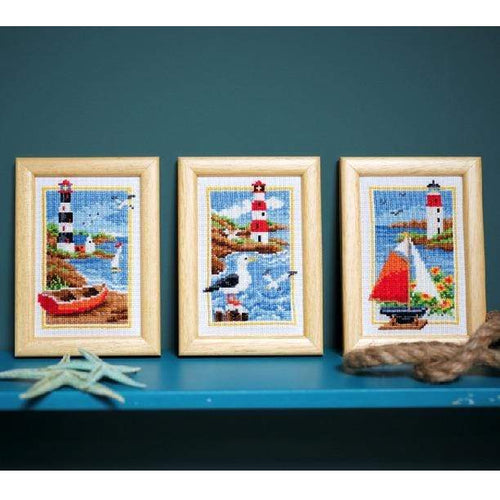 Vervaco - Lighthouse Miniature Cross Stitch Kit (Set of 3) - WOOLS OF NATIONS