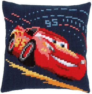 Vervaco - Lightning McQueen Cushion Cross Stitch Kit - WOOLS OF NATIONS
