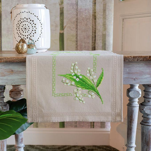 Vervaco - Lily Of The Valley Table Runner Cross Stitch Kit - WOOLS OF NATIONS