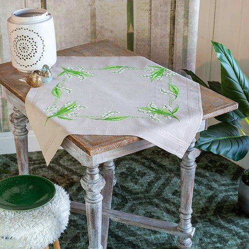 Vervaco - Lily Of The Valley Tablecloth Cross Stitch Kit - WOOLS OF NATIONS
