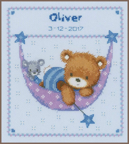 Vervaco Little Bear In Hammock Cross Stitch Kit - WOOLS OF NATIONS