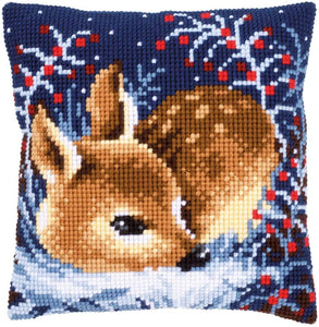 Vervaco - Little Deer Cushion Cross Stitch Kit - WOOLS OF NATIONS