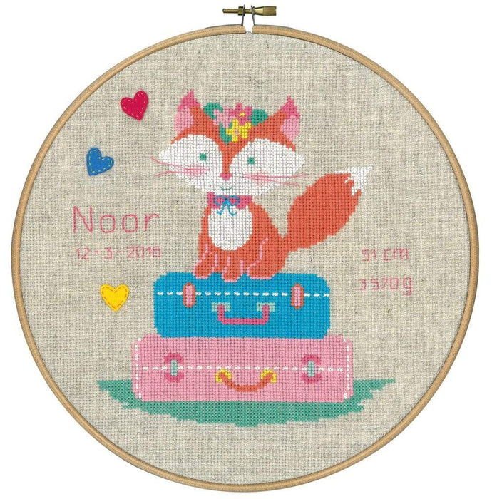 Vervaco Little Fox's Travelling Cross Stitch Kit - WOOLS OF NATIONS