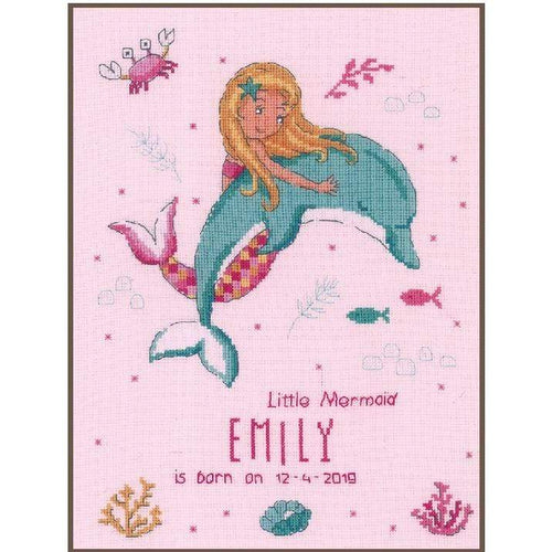 Vervaco - Little Mermaid & Dolphin Cross Stitch Kit - WOOLS OF NATIONS