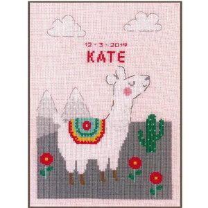 Vervaco - Lovely Llama Cross Stitch Kit - WOOLS OF NATIONS