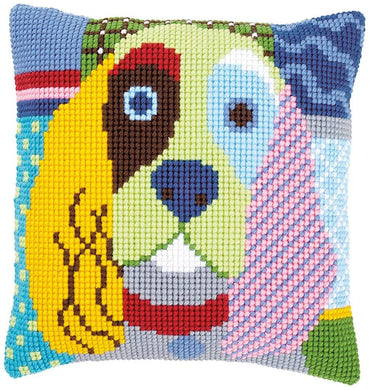 Vervaco - Modern Dog Cushion Cross Stitch Kit - WOOLS OF NATIONS