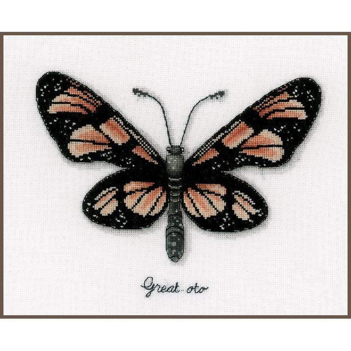 Vervaco - Orange Butterfly Cross Stitch Kit - WOOLS OF NATIONS