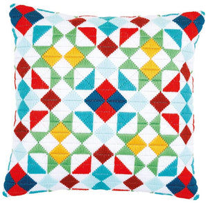 Vervaco - Rhombuses Long Stitch Cushion Kit - WOOLS OF NATIONS