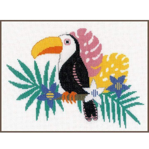 Vervaco Toucan Cross Stitch Kit - WOOLS OF NATIONS