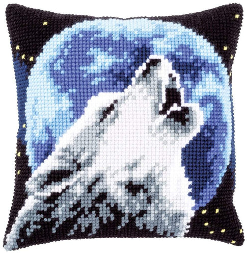 Vervaco - Wolf Cushion Cross Stitch Kit - WOOLS OF NATIONS