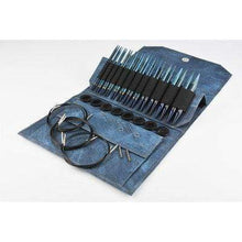 "Load image into Gallery viewer, Lykke Indigo 5"" Interchangeable Circular Knitting Needle Set - WOOLS OF NATIONS"