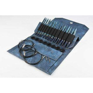 "Lykke Indigo 5"" Interchangeable Circular Knitting Needle Set - WOOLS OF NATIONS"