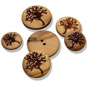 Wooden Button With Motif - WOOLS OF NATIONS