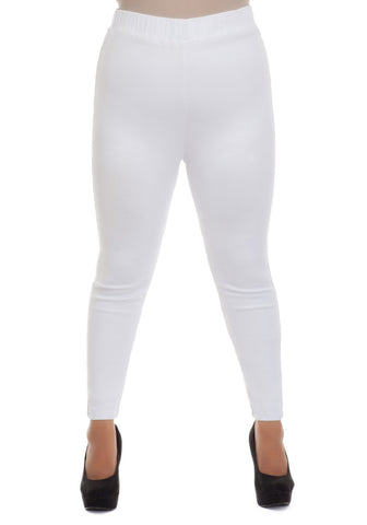 HIGH WAIST WHITE STRETCH DENIM