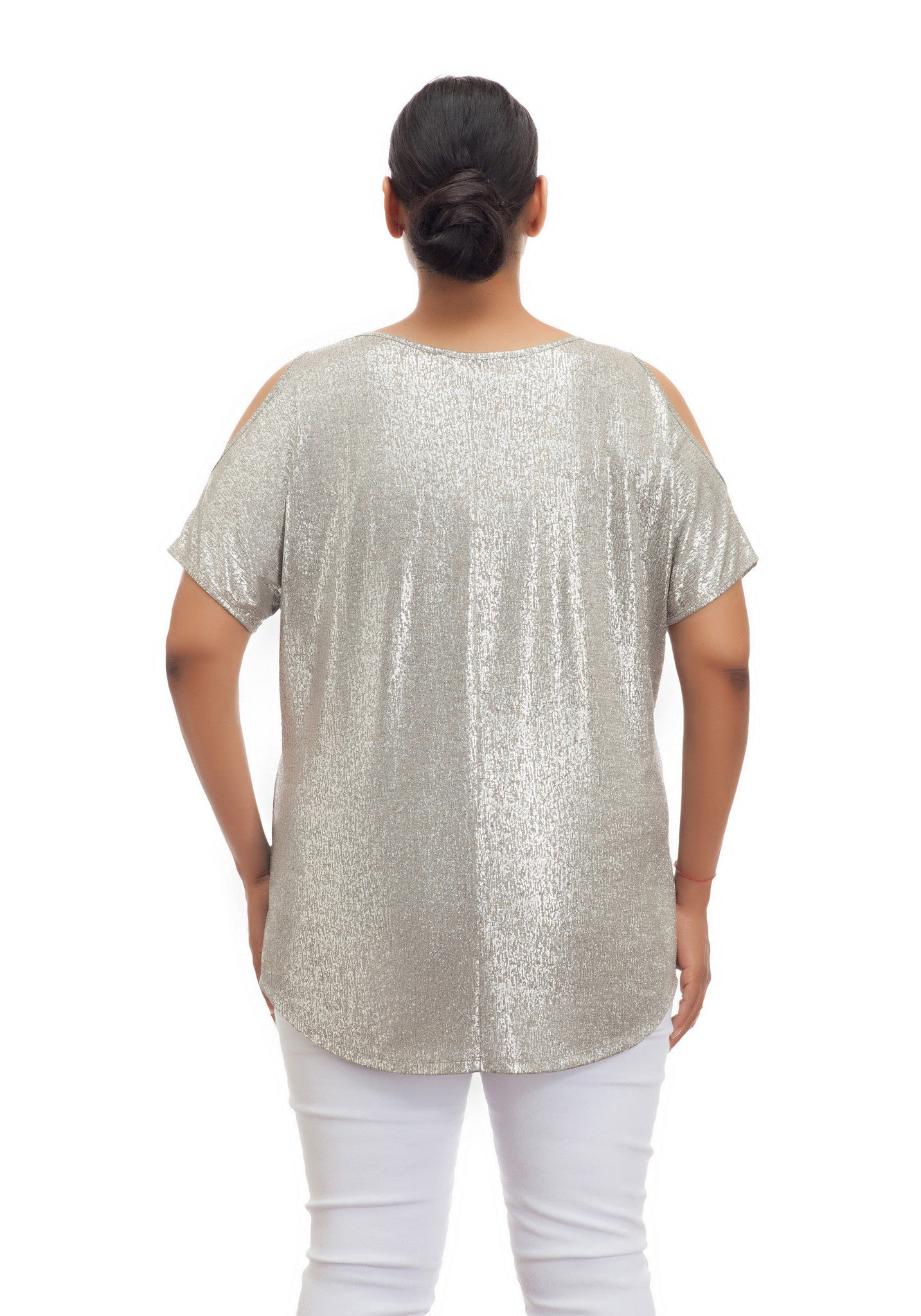 METALLIC COLD SHOULDER