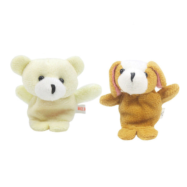 10 Pcs Cute Animal Finger Puppet Plush Toys Free + Shipping