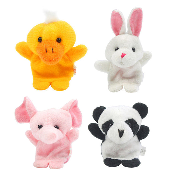 10 Pcs Cute Animal Finger Puppet Plush Toys
