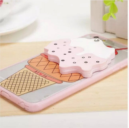 3D Ice Cream Mirror iPhone Case Free + Shipping
