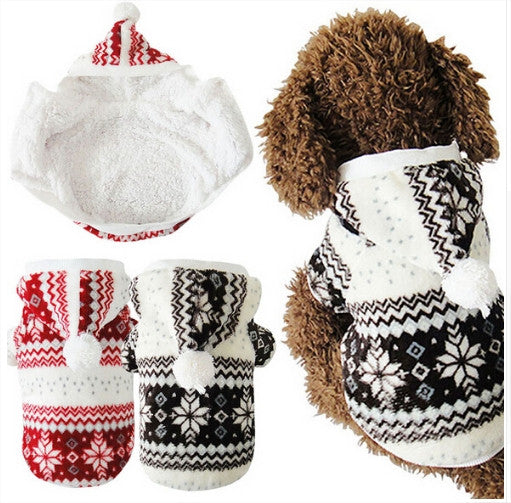 Cozy Snowflake Coat For Cats & Dogs