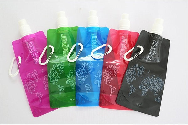Eco-Friendly Folding 16oz Water Bottles - 4 Pack