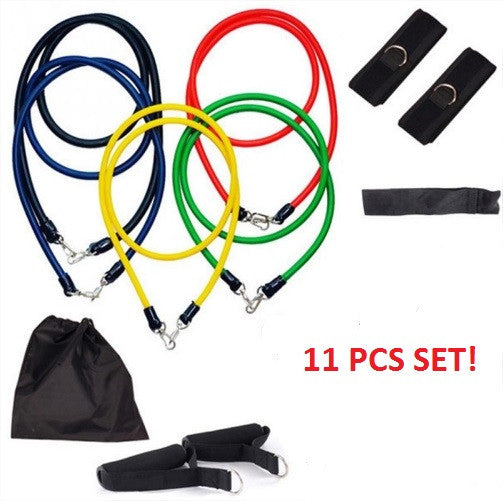 11Pcs Fitness Resistance Bands Set