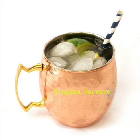 Hammered Copper Plated Moscow Mule Mug
