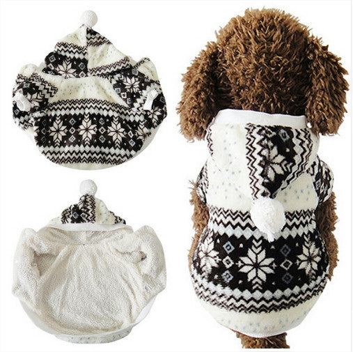 Cozy Snowflake Coat For Cats & Dogs Free + Shipping