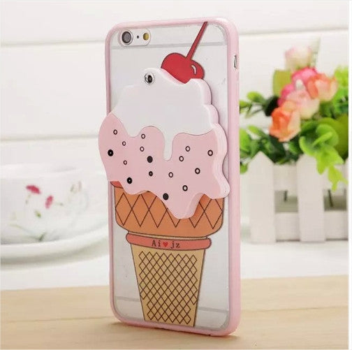 3D Ice Cream Mirror iPhone Case
