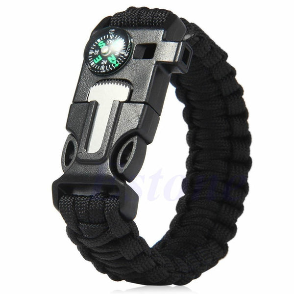 5-In-1 Paracord Survival Bracelet