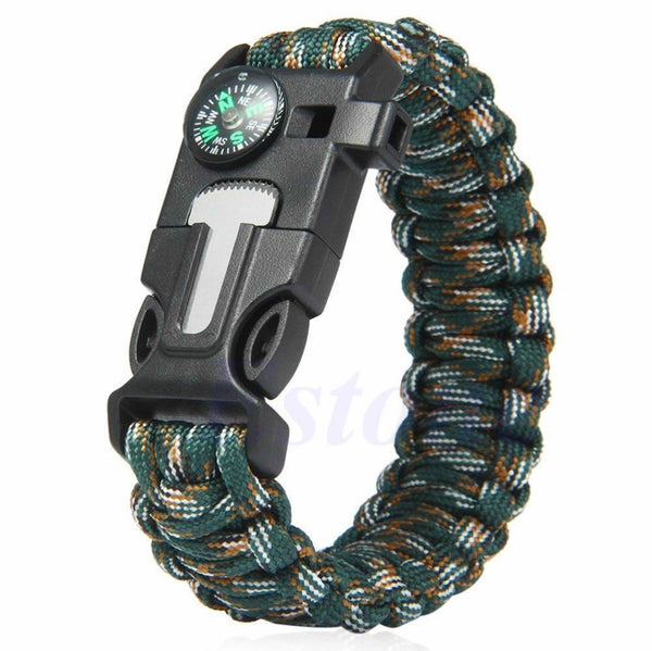 5-In-1 Paracord Survival Bracelet Free + Shipping