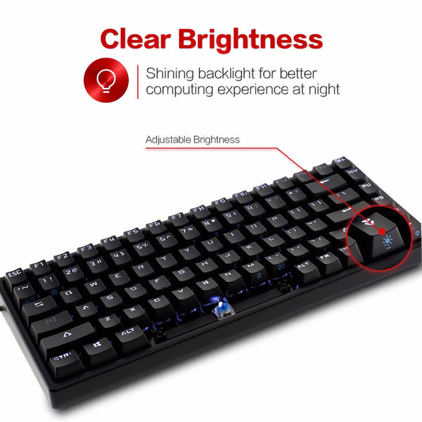 Drevo Gramr 84-Keys Wired Mechanical Back-lit Gaming Keyboard