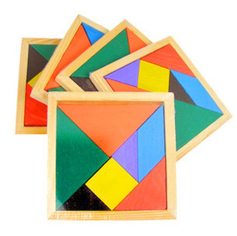 Wooden Geometric Jigsaw Puzzle
