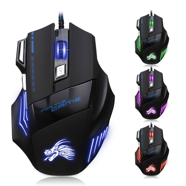 7 Buttons/5500 DPI LED Optical USB Wired Gaming Mouse
