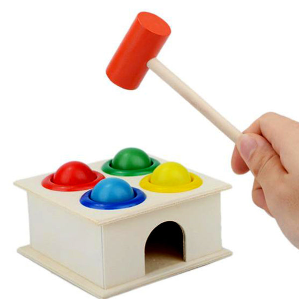 Wooden Ball & Hammer Box Toy Free + Shipping
