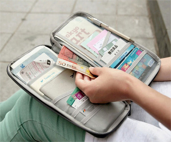 Multi-Functional Travel Wallet For Passports/Credit Cards/Documents