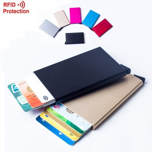 Automatic Pop Up Credit Card Holder Wallet